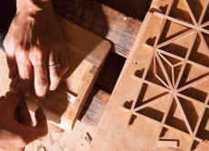 Join a traditional wooden grid workshop near Hakone