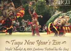 Tugu New Year's Eve: Night Market & 1001 Lanterns by the Sea