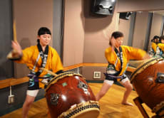 Japanese Drum Lesson & Kimono Dance Performance in Asakusa