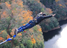 Challenge yourself with the highest bungee jump in Japan!