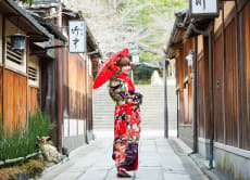 Premium Kimono Rental in Kyoto: Furisode, Montsuki Hakama!