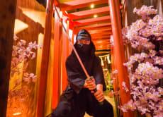 Practice ninja skills at a Ninja Trick House in Tokyo