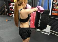 Practice kickboxing in Tokyo