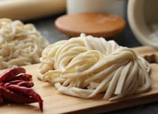 Make Udon noodles from scratch near Osaka