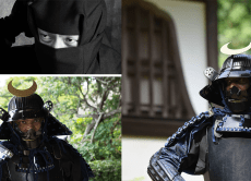 Get photos of you dressed in a Japanese armor!