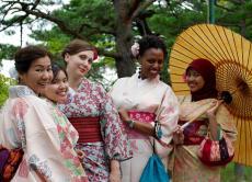 Wear a kimono or yukata in Matsushima!
