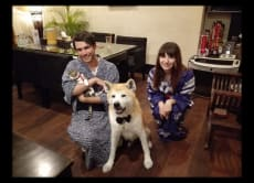 Dine or Drink with the Affectionate Akita Dog in Tokyo