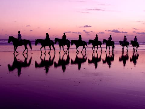 Go horse-riding on a sparkling beach
