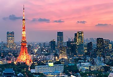 popular destination Tokyo