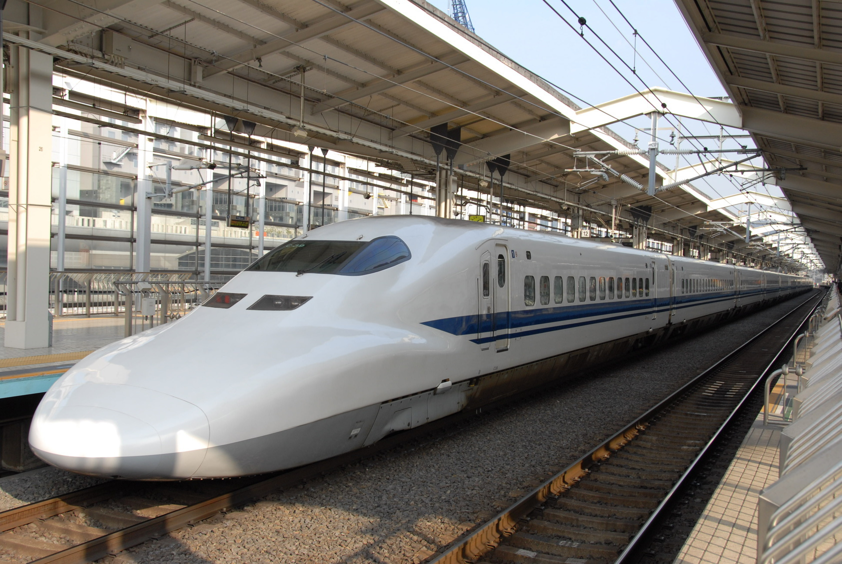 Image result for Shinkansen train and image in Osaka
