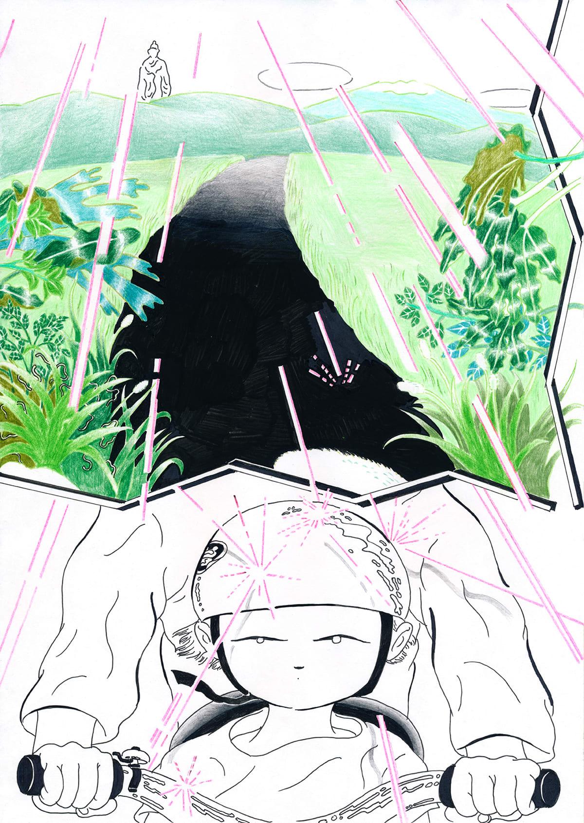 最後の手段によるマンガ作品『えんちゃんち』の連載がマンバでスタート!