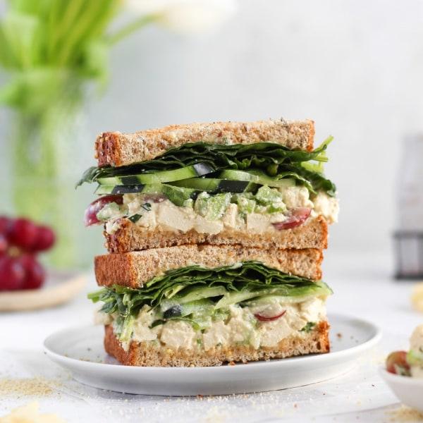 Image of Vegan Chick'n Salad Sandwich