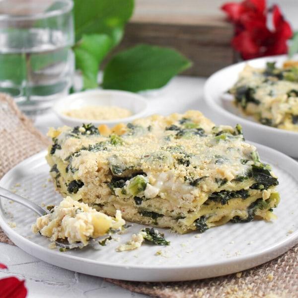 Image ofVegan Kale & Roasted Garlic Lasagna