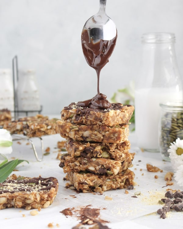 Image ofNo Bake Sweet & Salty Granola Bars