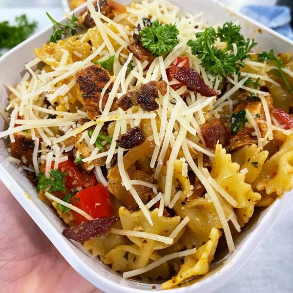 Image ofBlackened Chicken Garlic Bowtie Pasta