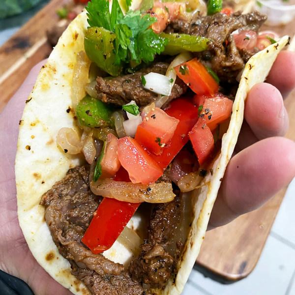 Image of Easy Fiesta Steak Fajitas