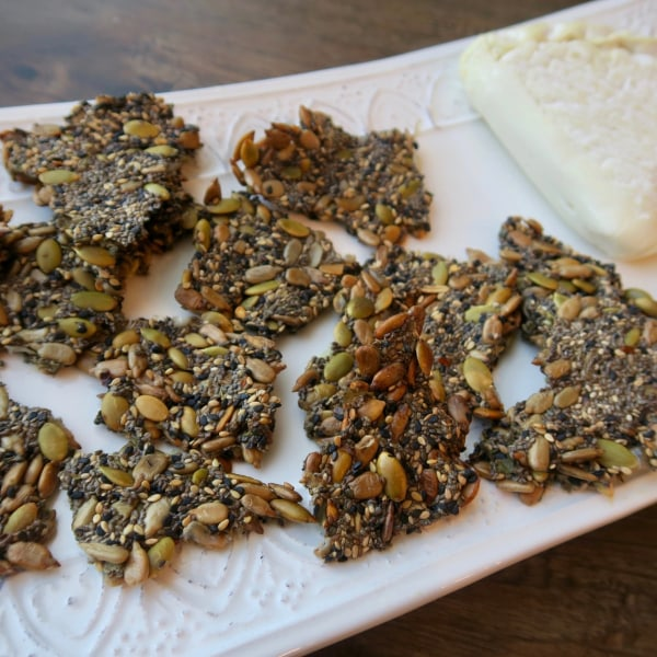 Image offive seed crackers – homemade and easy