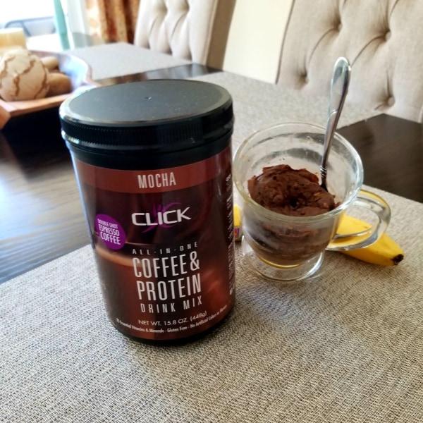 Image ofCoffee Protein Recipe: CLICK Banana Bread in a Mug