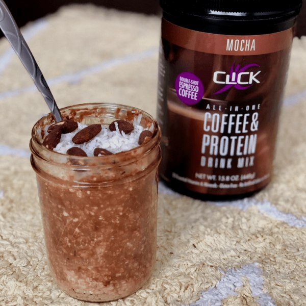 Image ofCoffee Protein Recipe: Mocha Overnight Oats with a Double Shot