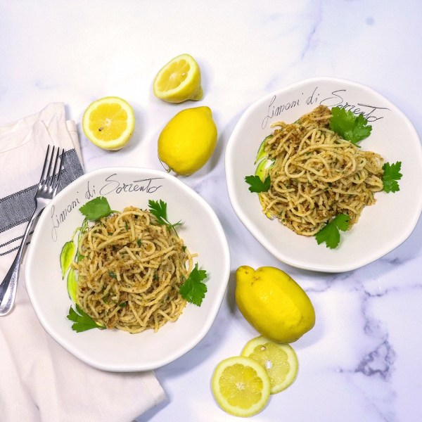 Image ofPasta Aglio e Olio with Anchovy & Limone