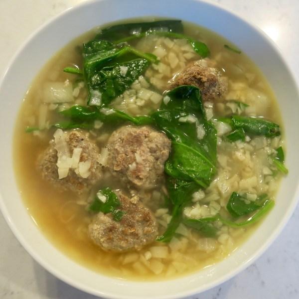 Image of italian wedding soup (keto version)