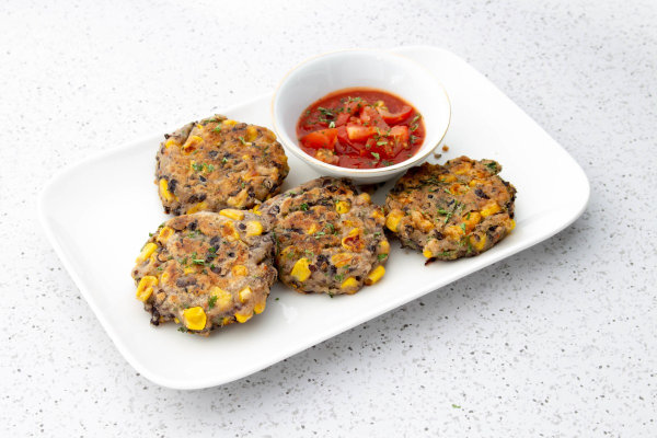 Image ofSweetcorn and Black Bean Fritters