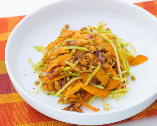 Image of Sweet Potatoes Lentils and Broccoli Slaw
