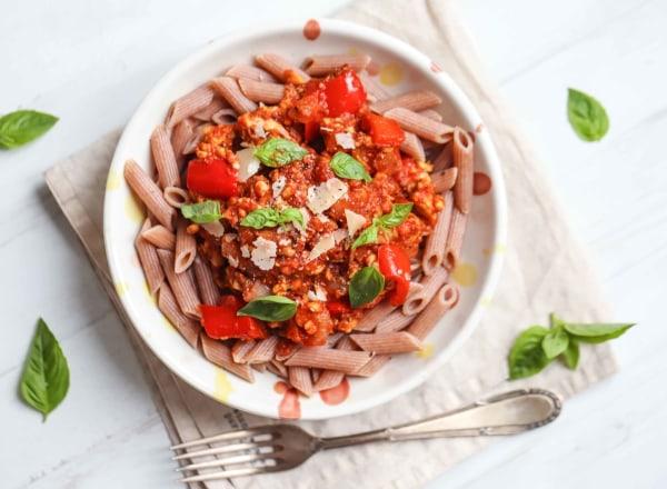 Image of Vegan Tempeh Bolognese Recipe