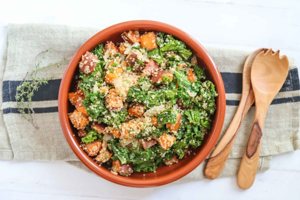 Image of Vegan Sweet Potato Kale Salad Recipe