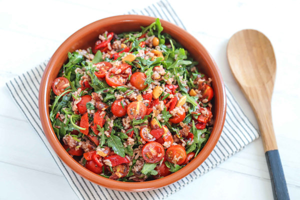 Image of Vegan Rice and Balsamic Salad Recipe