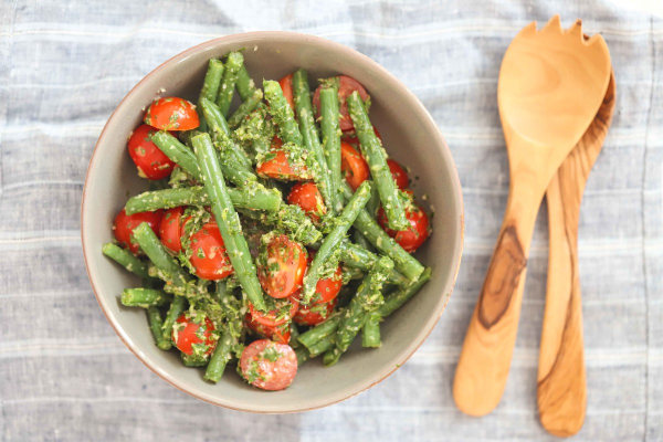 Image ofVegan Beans and Tomato Salad Recipe