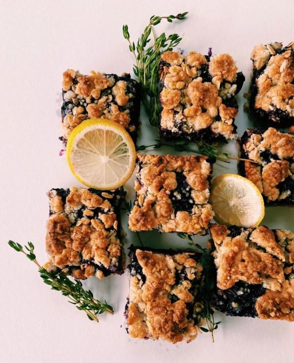 Image of Lemon Thyme Blueberry Bars