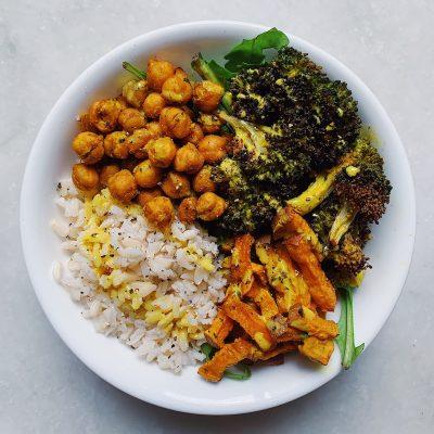 Image of Sheet-Pan Masala-Spiced Veggie Bowl