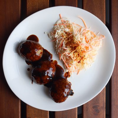 Image of Stovetop Mini Meatloaves and Japanese Slaw