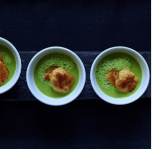 Image ofRicotta Gnudi with Spring Pea Soup