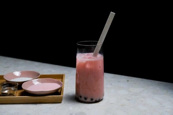 Image ofStrawberry Milk Tea Recipe