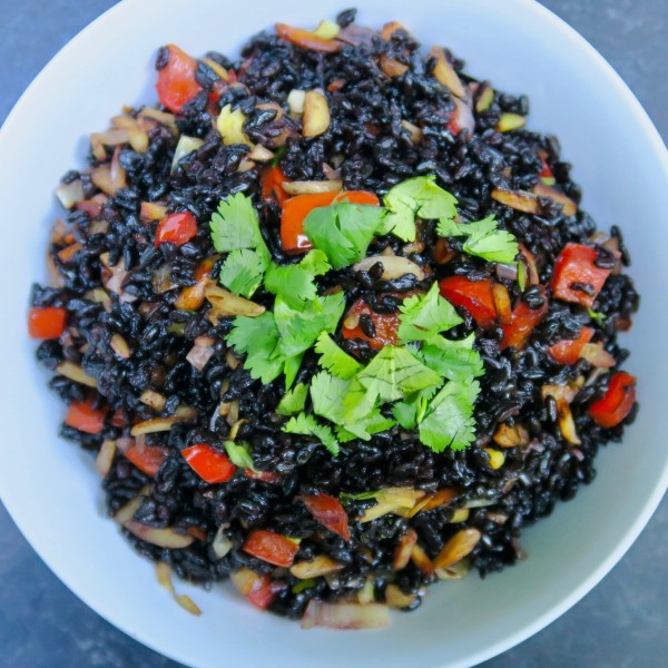 Image of crunchy coconut black rice