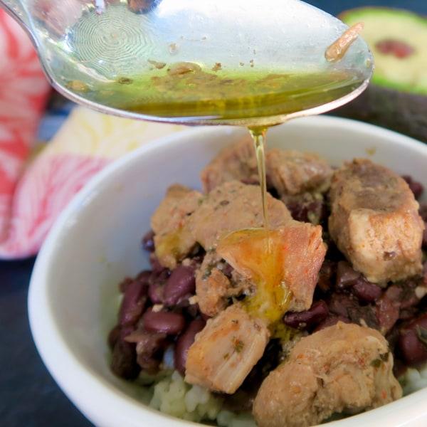 Image of mojo marinated pork cubano