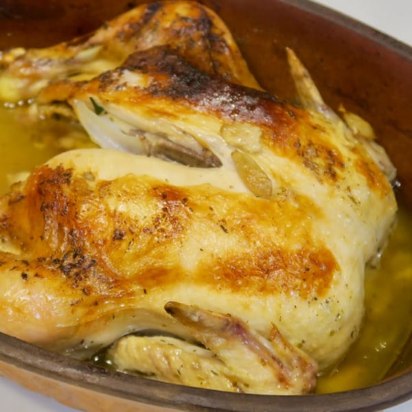 Image ofbuttery garlic roasted chicken