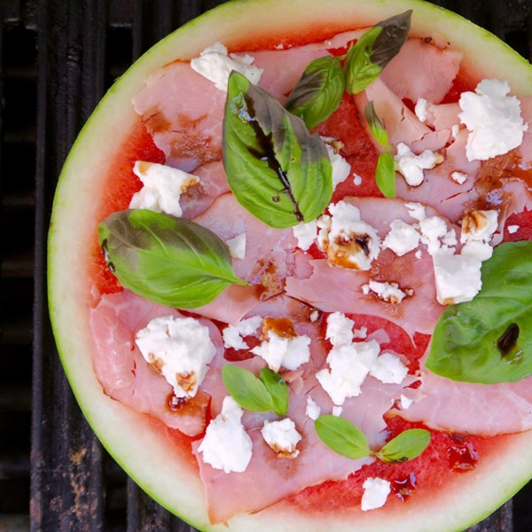 Image of grilled watermelon pizza