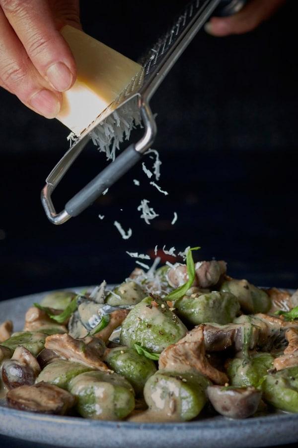 Image ofSpinach Gnocchi & Wild Mushroom Sauce
