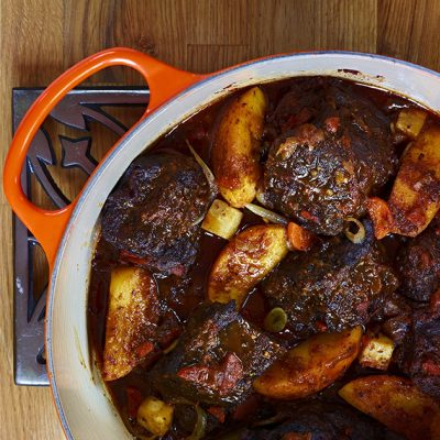 Image of Braised Short Ribs with Coffee & Apples