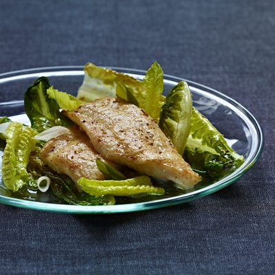 Image of Sautéed Flounder with Pickled Spring Onions