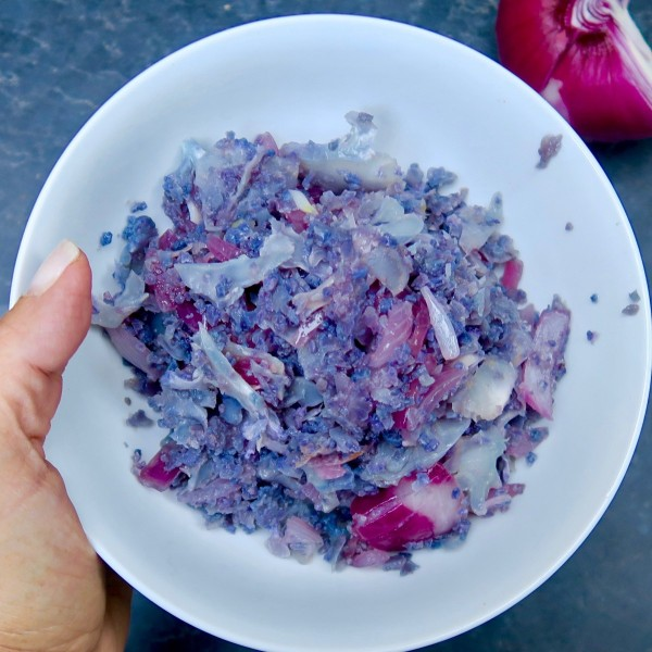 Image of purple cauliflower rice