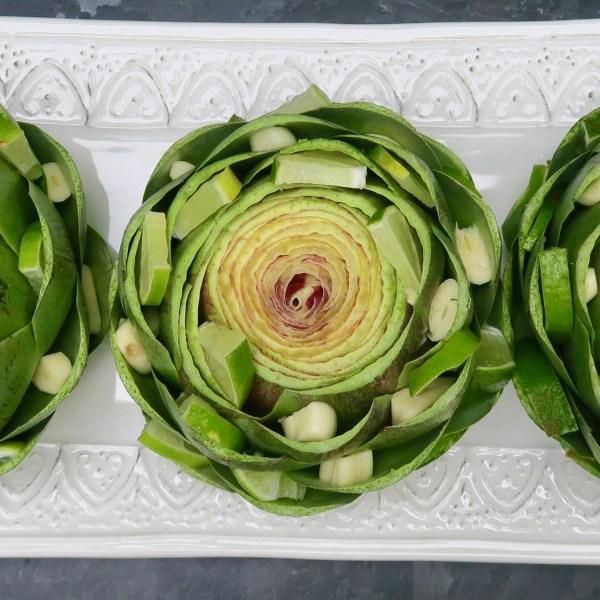 Image ofartichoke with garlic, lime & aioli