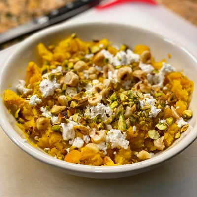 Image of Squash with Feta and Hazelnuts