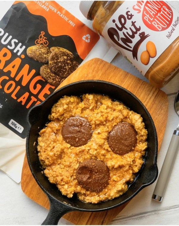 Image ofChocolate Orange & Peanut butter Oatmeal Skillet