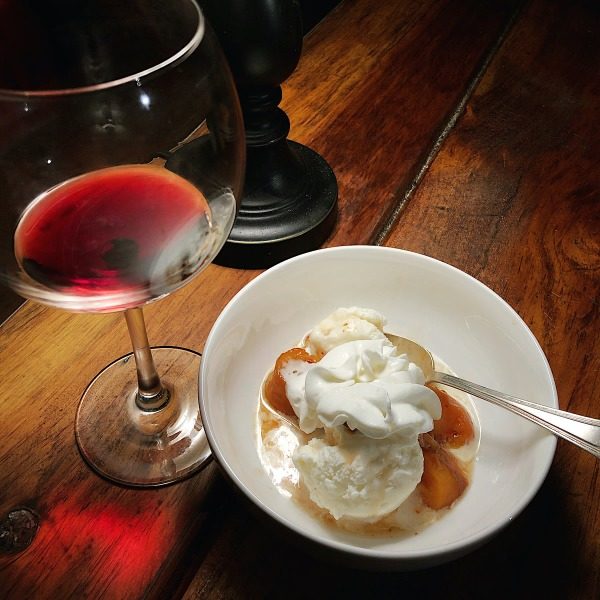 Image ofRoasted Peaches with Orchidea Chantilly Cream