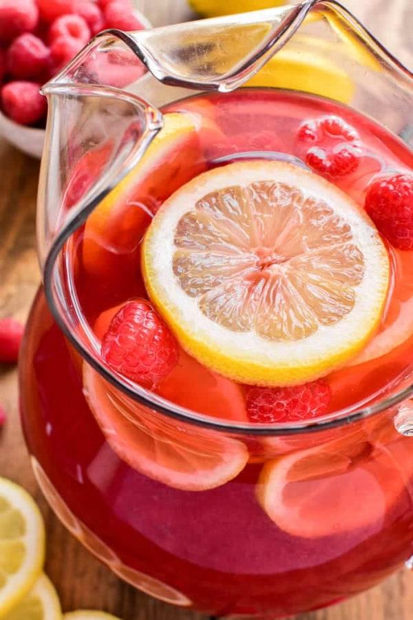 Image of raspberry lemonade sangria
