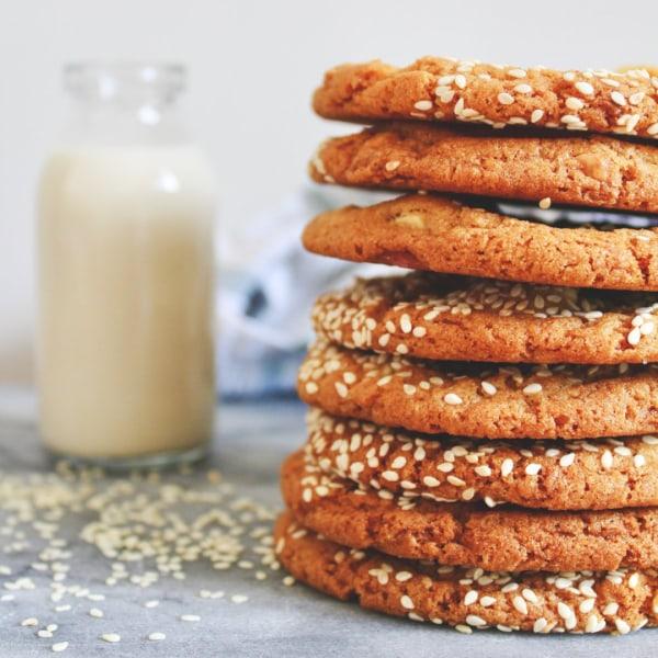 Image of White Choc Chip Tahini Cookies